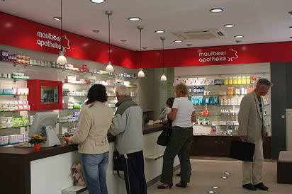 Service in der Maulbeer Apotheke